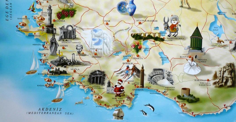 Cartes de turquie carte de lycie carte de cappadoce for Carte touristique